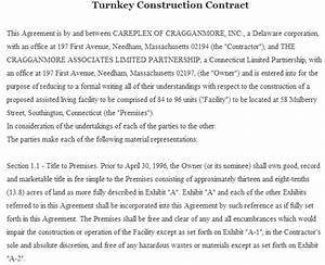 15 best free sample contract templates sample templates for Turnkey contract template