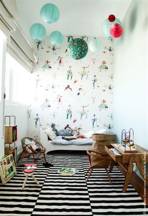 tapisserie originale chambre chambre enfant originale deco tapisserie