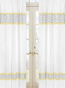 yellow and gray chevron zig zag window treatment panels by sweet jojo designs set of 2 only 54 99