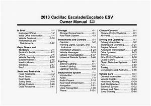 Wiring Diagrams And Free Manual Ebooks  2013 Cadillac