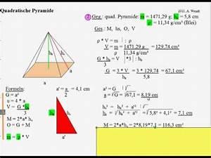 Grundfläche Pyramide Berechnen : pyramide volumen oberfl che h he pythagorasrechnungen ~ Themetempest.com Abrechnung