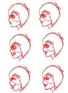 draw profile faces  mouths side view step