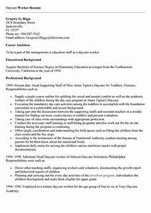 daycare worker resume objective With child care worker resume