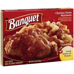 Banquet Entree by Banquet Chicken Pasta Marinara Meal 6 5 Oz Walmart Com