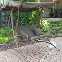 coral coast bay 2 person canopy swing chocolate porch swings at hayneedle