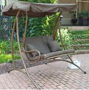 Long Bay 2 Person Canopy Swing Chocolate Porch Swings At Hayneedle WF251 39 Outdoor Rattan Wicker Swing Bed With Canopy Garden Swing Chair Outdoor Sleeping Bed Hammock With Gauze And Canopy Rosalie Outdoor Patio Chaise Lounge Swing Bed And Canopy Great Deal