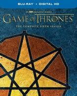 game  thrones  complete sixth season blu ray faith