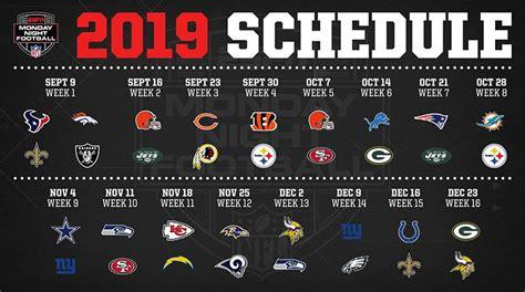 monday night football schedule