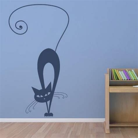 charming interior decorating ideas  cat stickers