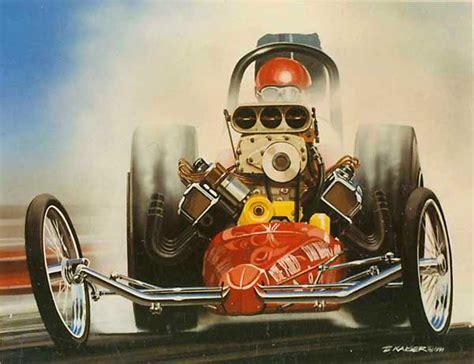 drag racing  car show art