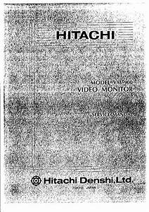 Hitachi Vm900 Cctv Monitor Service Manual Download