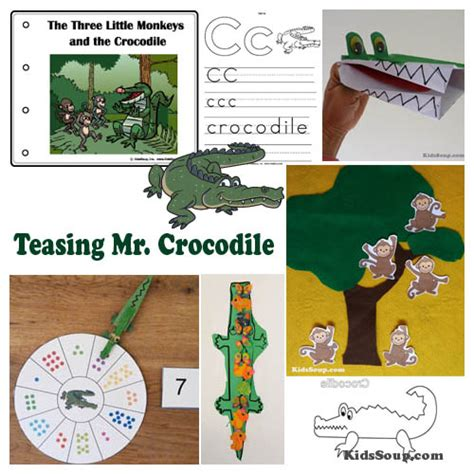 in the jungle preschool lesson plans and activities 386 | Crocodile preschool activities
