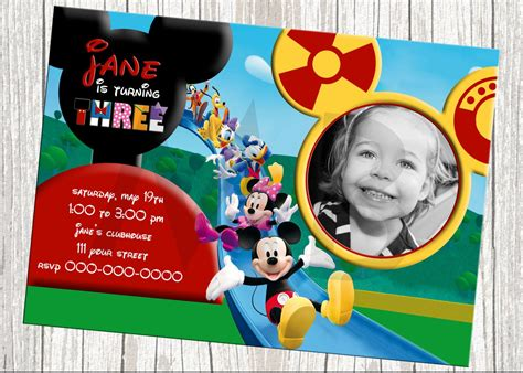 birthday invitations mickey mouse clubhouse background
