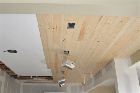 Installing A Beadboard Ceiling Materials And Methods :  How To Install A Wood Planked Ceiling