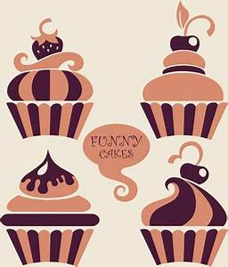 Vintage cupcakes design vector Free vector in Encapsulated ...