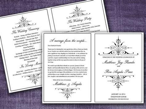 victorian romance  fold wedding program template