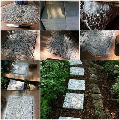 beautiful lace  backyard stepping stone