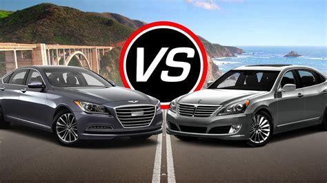 Hyundai Genesis Vs Equus by 2016 Hyundai Genesis V6 Vs Equus Spec Comparison