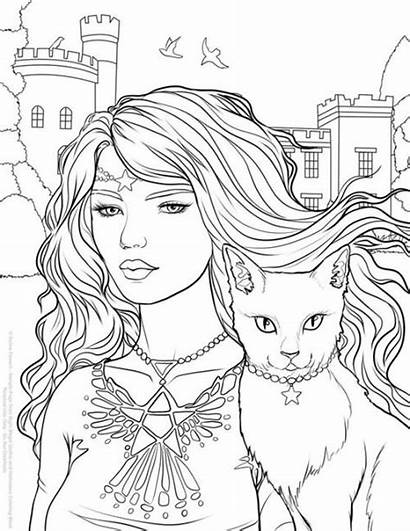 Coloring Halloween Pages Gothic Adult Night Magic