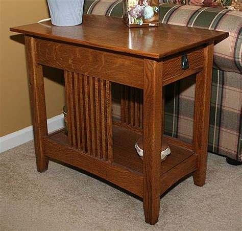 Bedroom End Tables Plans by Mission End Table Plans Nesting Table Plans Quarter Sawn