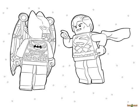 coloriage lego h 233 ros batman et super man dessin gratuit 224