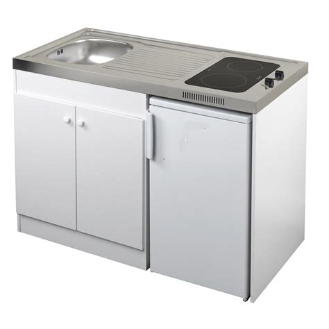 meuble sous evier cuisine brico depot kitchenette vitrocéramique 120x60 cm blanc leroy