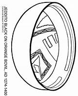 Coloring Pottery Oblique sketch template