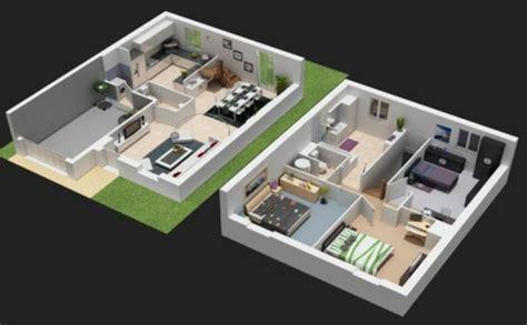 plan maison plain pied 3 chambres 100m2 plan maison 3d d 39 appartement 2 pièces en 60 exemples