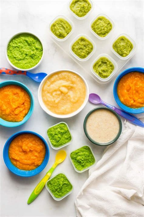 homemade baby food combinations family food   table