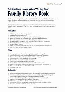 34 Questions To Ask When Writing Your Family History Book