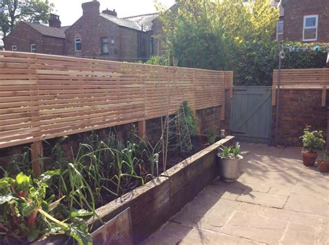 slatted screen fencing pride home services