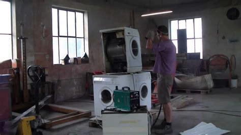 waschmaschine klappert beim schleudern teil 1 waschmaschine schikaniert beim schleudern mit plasmaschneider cut 40 zerlegt 7 2011