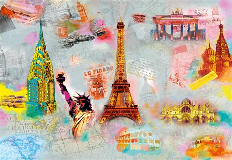 Around The World Wall Mural  Buy At Europosters