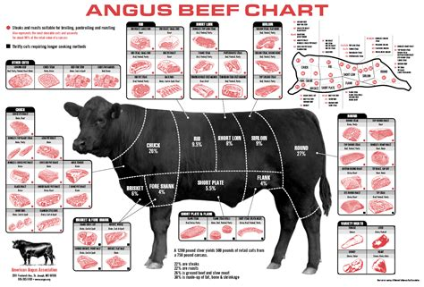 cuts of beef chart roberts big oak farm