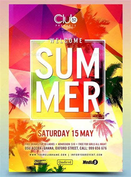 23+ Summer Welcome Party Flyer Template Free & Premium
