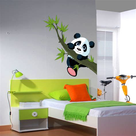 stickers chambres wallstickers folies panda wall stickers