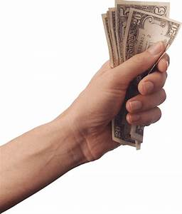 Hand Holding Cash Money transparent PNG - StickPNG