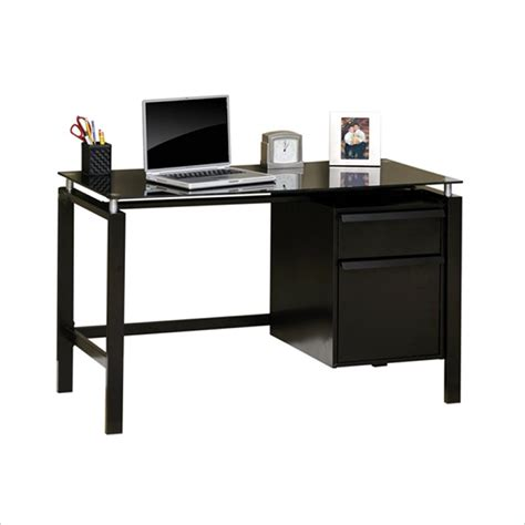 Studio Rta Desk Black by Studio Rta Lake Point Desk In Black Black Glass Bedroom