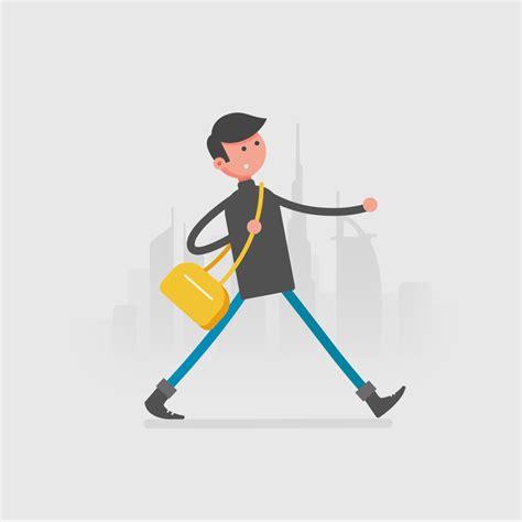 character walking cycle gif  behance