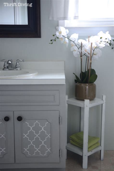 pretty painted bathroom vanity projects