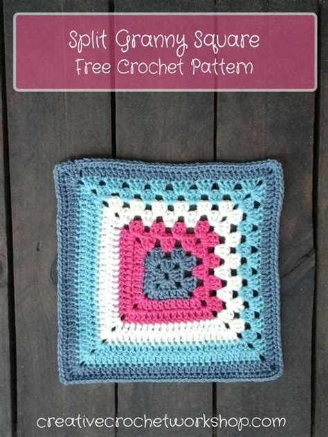 split granny square creative crochet workshop  crochet pattern