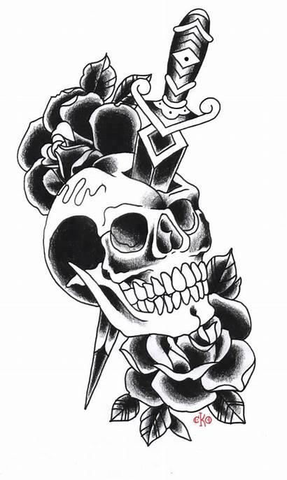 Tattoo Skull Dagger Designs