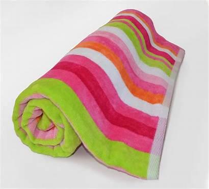 Beach Towels Pink Roll Terry Stripe Cabana