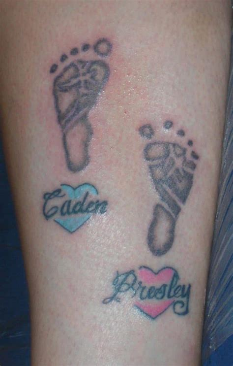 popular baby footprint tattoos symbols  ideas