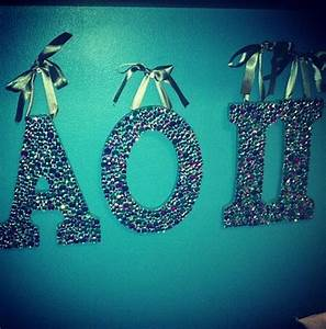 rhinestoned wooden aoii sorority letters my next summer With aoii wooden letters