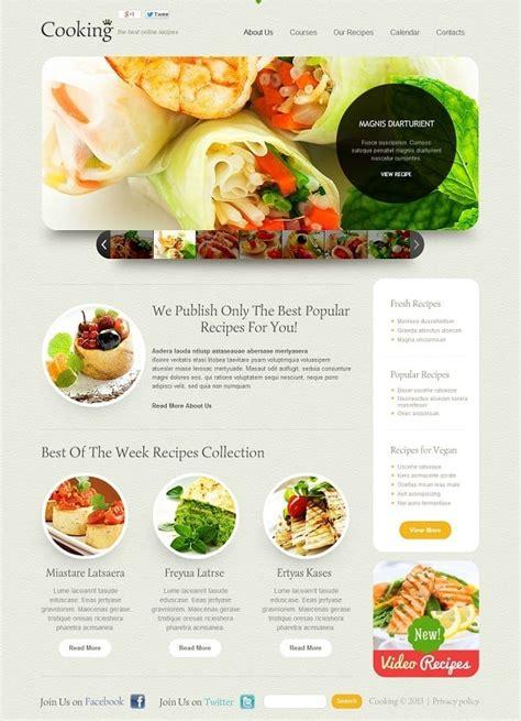 cooking website templates delicious designs