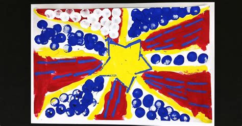 Then glue squares of primary colored tissue on them as if they were tiles, overlaying as needed to get the secondary colors. Kindergarten Lichtenstein's in Primary Colors! | Color art lessons