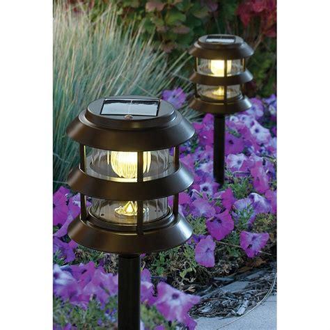 solar outdoor lighting solar garden path light bronze 209793 solar outdoor