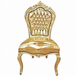 Chaise Style Baroque : chaise de style baroque rococo simili cuir dor et bois dor ~ Teatrodelosmanantiales.com Idées de Décoration