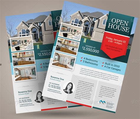 open house flyer templates  customize